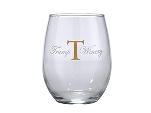 Stemless Glass- Gold T