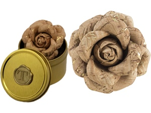Cork Rose Lapel Pin