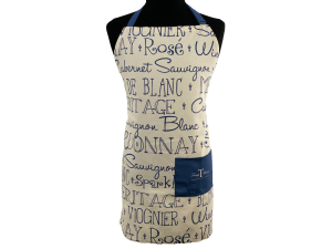 Apron - Wine Word Art