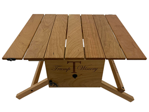 Picnic Table and Wine Carrier